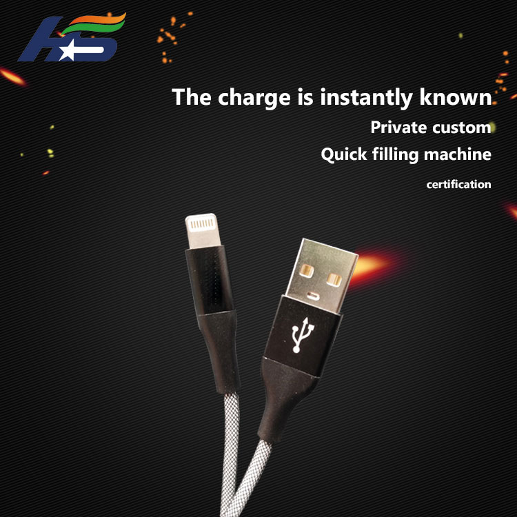 Top quanlity black USB cable for iphone