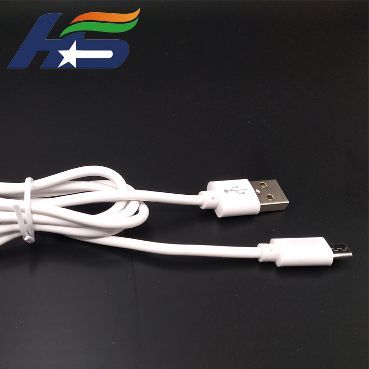 Wholesale white PVC USB fast cable for phone and pad
